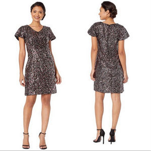 Vince Camuto NWT Black & Pink Sequin Party Dress
